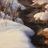 Snow Patterns - plein air painting