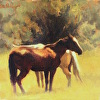 Horses in Sunny Meadow