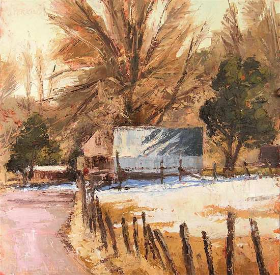 Hoytsville Road by Jan Perkins Oil ~ 12 x 12
