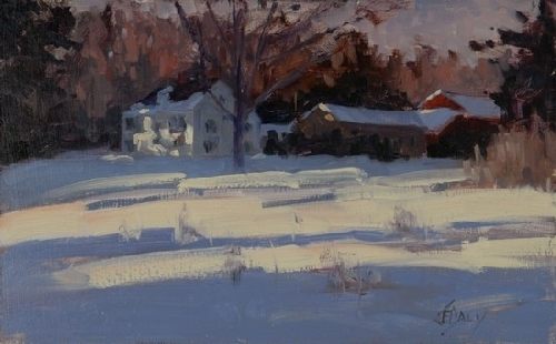 Mid-Winter Light - Oil