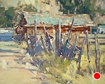 Fenceline by Jill Carver Oil ~ 16 x 20