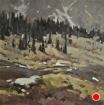 May in the High Country by Jill Carver Oil ~ 12 x 12