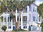 "Charleston Dream Giclee by Sharon Parker Watercolor ~ 12"" x 16"""