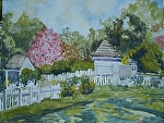 "Beside the Prentis Shop, Colonial Williamsburg Giclee by Sharon Parker Watercolor ~ 12"" x 16"""