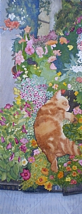 "Stopping to Smell the Flowers in Cortona Giclee by Sharon Parker Watercolor ~ 24"" x 12"""