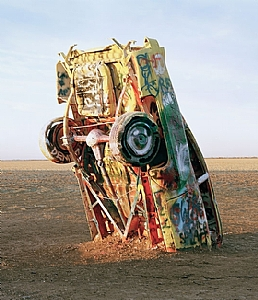 Cadillac Ranch, Texas Panhandle, 2009 by Nora Larimer  ~  x