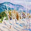 100/100 #15- Winter Aspens by Nora Larimer Oil ~ 8 x 8.5