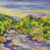Arkansas River 4 by Nora Larimer Watercolor ~ 17 x 21