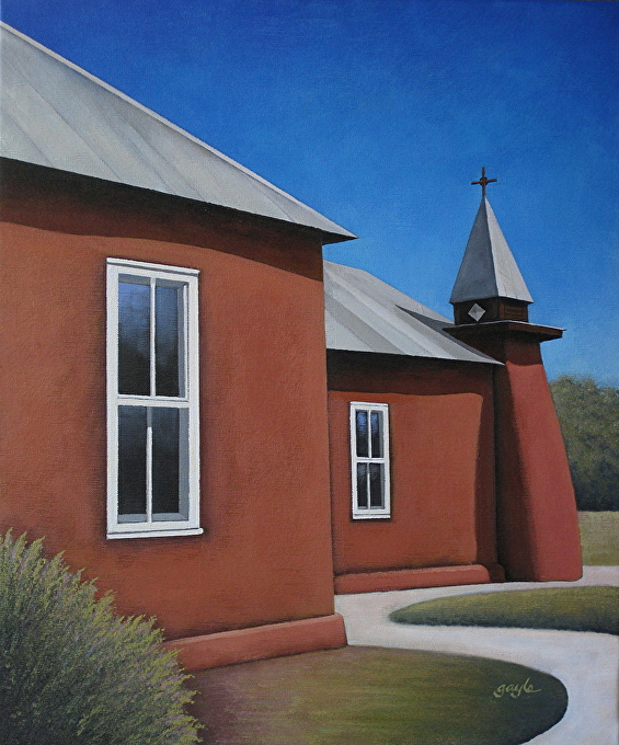 The Old Church by Gayle Faucette Wisbon Acrylic ~ 24 x 20