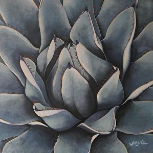 Rosette by Gayle Faucette Wisbon Acrylic ~ 18 x 18