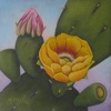 Prickly Pear by Gayle Faucette Wisbon Acrylic ~ 6 x 6