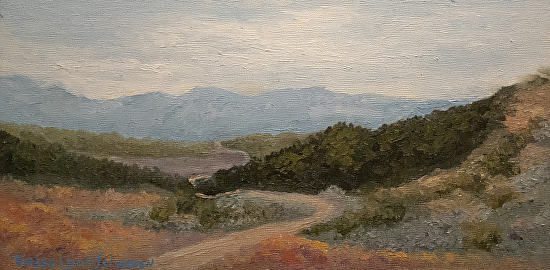 The Distant Road - Oil