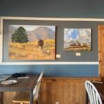 Rebecca Martin - Art Display at Cannon Mine Coffee Shop