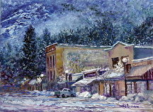 Rossland by Stephen Dobson Oil ~ 12 x 16""
