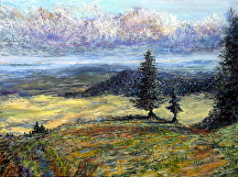 "Standing watch over the Valley by Stephen Dobson Oil ~ 18"" x 24"""
