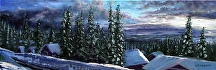 "Big White Morning by Stephen Dobson Oil ~ 8"" x 24"""