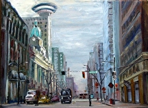 "Howe Street by Stephen Dobson Oil ~ 18"" x 24"""