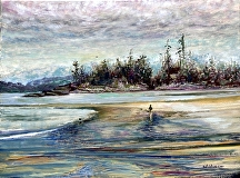 "Beachcombers by Stephen Dobson Oil ~ 18"" x 24"""
