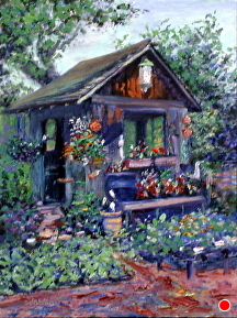 The Garden's Glory by Stephen Dobson Oil ~ 16 x 12