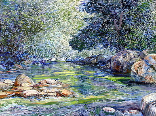 Capilano River - Oil