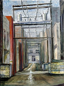 Back Alley by Stephen Dobson Oil ~ 24 x 18