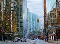 "Thurlow Street by Stephen Dobson Oil ~ 18"" x 24"""