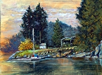 Deep Cove I by Stephen Dobson Oil ~ 12 x 16""