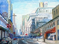 "Dunsmuir & Seymour by Stephen Dobson Oil ~ 18"" x 24"""