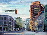"Downtown Delivery by Stephen Dobson Oil ~ 18"" x 24"""