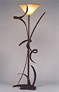"Torchiere by Bill Brown Steel & Blown Glass ~ 70"" x 14"""