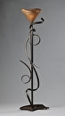 "Torchiere by Bill Brown Steel & Blown Glass ~ 72"" x 21"""