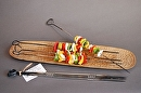 "Skewers - Set of 4 by Bill Brown Steel w/ vegetable oil finish ~ Approx. 18"" x 1/8"" Square Stock"