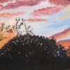 "Surprize Sunset by Denise Marie Brown Oil ~ 12"" x 16"""