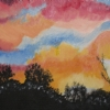 "Surprize Sunset 2 by Denise Marie Brown Oil ~ 12"" x 16"""