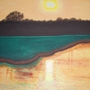 Golden Sunset 2 by Denise Marie Brown Oil ~ 20 x 16