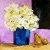 Blue Vase with Pears
