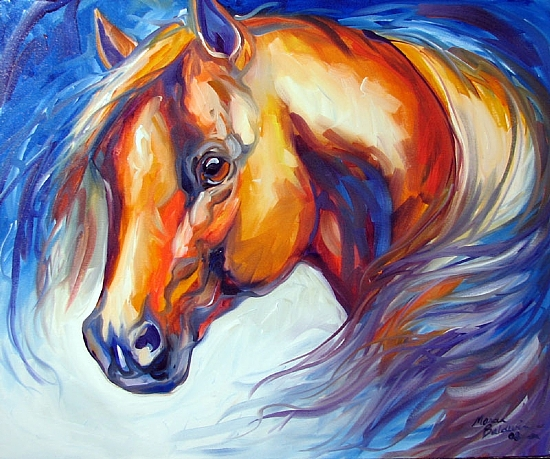 SOUTHWEST SPIRIT EQUINE by M BALDWIN Oil ~ 20 x 24