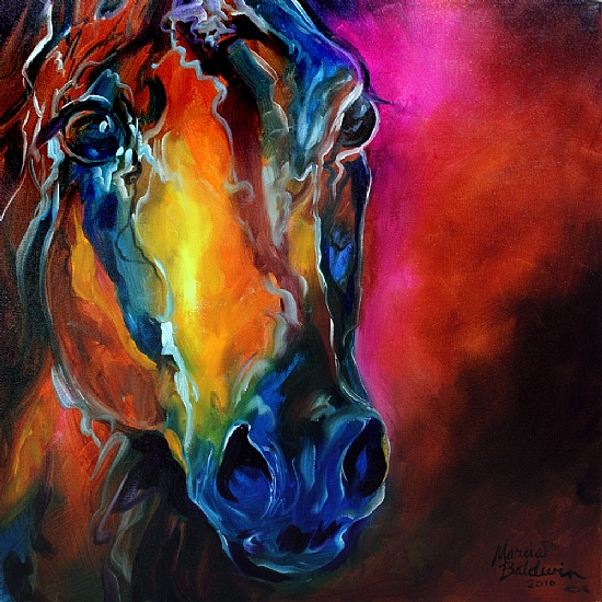 ALLURE ARABIAN HORSE ABSTRACT - Oil