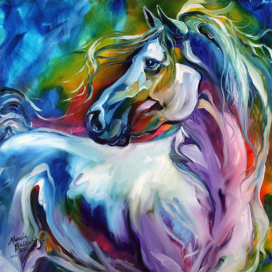 MYSTIC POWER EQUINE ABSTRACT - Oil