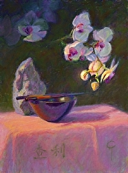 Orchid and Chopsticks, Charlotte Herczfeld
