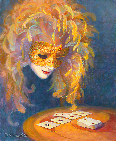 Solitaire -- Venetian Mask - Pastel