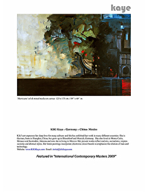 "BOOK  International Contemporary Masters ""Hurricane"" 2012 by KiKi Kaye  ~  x"