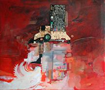 """""""Beyond Time"""" by KiKi Kaye mixed media ~ - x 28"""