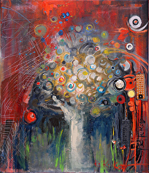 Family Tree by KiKi Kaye mixed media ~ 70 x 60