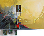 """Electronic Journey""  American Art Award by KiKi Kaye Oil ~ 36"" x 53"""