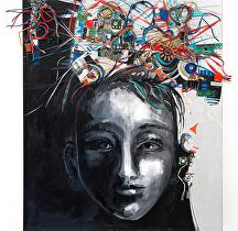 """Open Mind"" by KiKi Kaye Acrylic ~ 28 x 24"""
