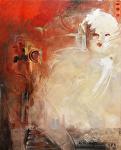 """""""Sphinx"""" by KiKi Kaye Oil ~ 40 x 32"""