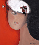 "Serie"" Favorite Girls"" # One by KiKi Kaye Acrylic ~ 32"" x 28"""