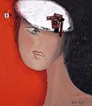 "Serie"" Favorite Girls"" # One by KiKi Kaye Acrylic ~ 32"" x 28"""