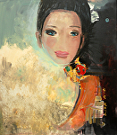 "Serie"" Favorite Girls"" # Three by KiKi Kaye Acrylic ~ 32"" x 28"""